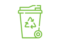 Illustration of Recycling Bin